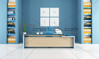 blue modern office space