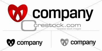 Abstract heart logo for dating site