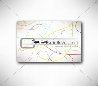Abstract gift Card with colorful lines. Vector
