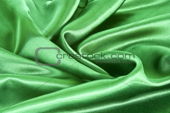 Green satin background