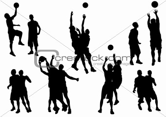 Basketball sport people