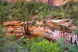 Beautiful landscape of the zion national park mountains