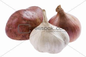 potato with onion close up