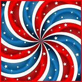 American flag stars and swirly stripes