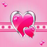 Pink love hearts, valentine or mothers day