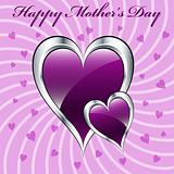 Mother's day purple love hearts