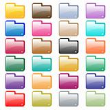 Web folder icons assorted colors