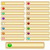 Web buttons gold