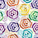 Seamless cuted circle pattern