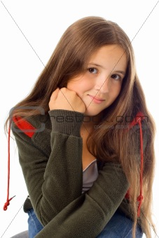 Portrait of teenager girl