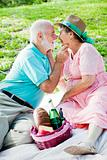 Senior Couple Gets Romantic