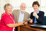 Senior Financial Advice - Thumbsup