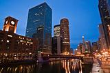 Night by Chicago River