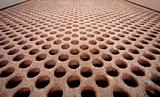 Rusty metal lattice - heat exchanger