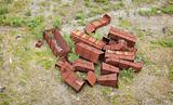 Heap of rusty iron garbage