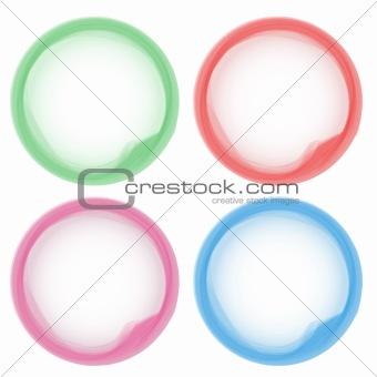 Abstract Pastel colorful aqua circles
