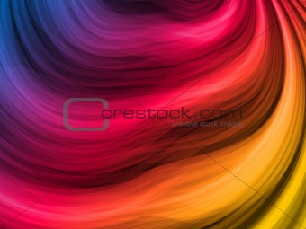 Abstract Colorful Waves on Black Background