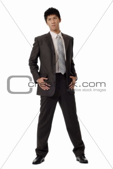 Confident young business man