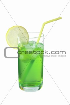 Mohito drink isolated on white