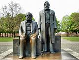 Marx-Engels Forum statue