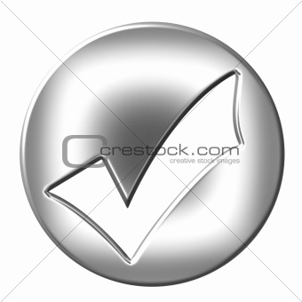 3D Silver Framed Tick