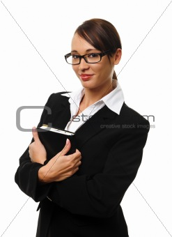 Attractive brunette business woman