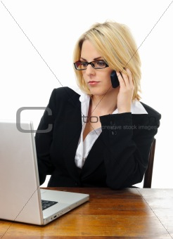 Attractive blond business woman