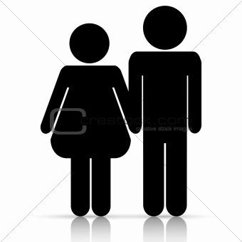 Male-female symbol of love