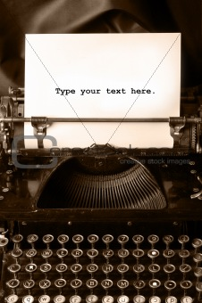 Old type writer