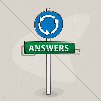 Answers signpost