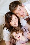happy family smiling closeup