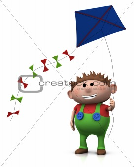 boy with kite