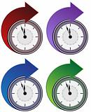 Forward Clock Arrow Set