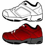 Red Tennis Shoe Set