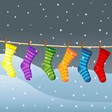 Clothes line for Christmas socks