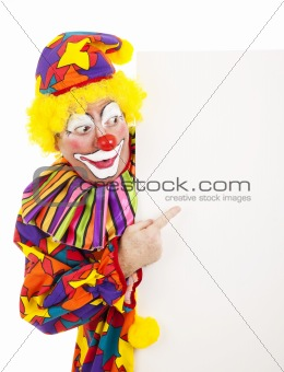 Circus Clown Pointing