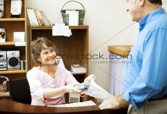 Disabled Store Clerk
