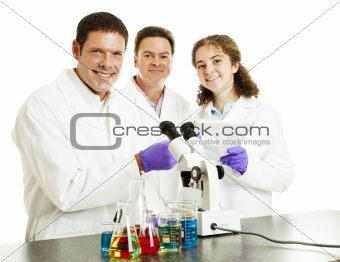 Happy Scientists in Lab