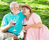 Picnic Seniors with Wine