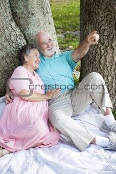 Relaxed Seniors Birdwatching