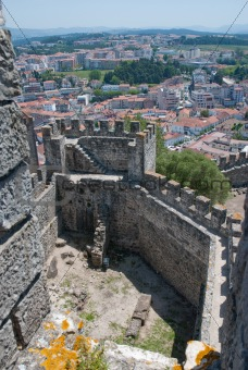 Ancient walls in a Castle
