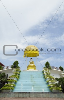 Buddha and Fountain
