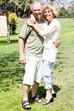 Affectionate senior couple embracing
