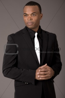 Portrait of confident african american business man