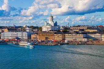 Summer panorama of Helsinki, Finland