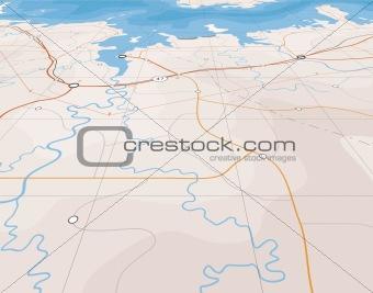 Angled map
