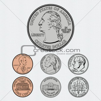 Vector Coins with Background