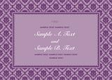 Vector Purple Ornate Frame