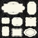 Vector Dark Rounded Frame Set