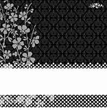 Vector Pattern and Blossom Background